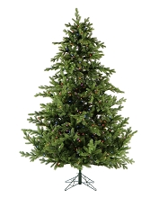 9 Ft. Foxtail Pine Christmas Tree with Multi-Color LED String Lighting - FFFX090-6GR