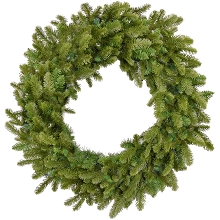 Fraser Hill Farm 48-In. Grandland Artificial Holiday Wreath - FFGT048W-0GR
