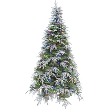 Fraser Hill Farm 7.5 Ft. Hunter Fir Artificial Christmas Tree with Multi-Color LED String Lighting - FFHF075-6SN
