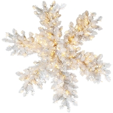 Fraser Hill Farm 36-inch Icy Fir Snowflake Christmas Indoor/Outdoor LED Lights Decor, FFIF036SF-1WH
