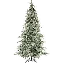 7.5 Ft. Flocked Mountain Pine Christmas Tree - FFMP075-0SN
