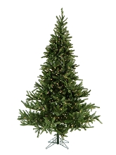 7.5 Ft. Noble Fir Christmas Tree with Clear LED String Lighting - FFNF075-5GR