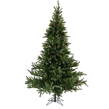 7.5 Ft. Noble Fir Pine Christmas Tree with Multi-Color LED String Lighting - FFNF075-6GR