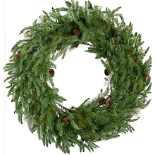 Fraser Hill Farm 36-In. Norway Pine Artificial Holiday Wreath - FFNP036W-0GR