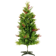 Fraser Hill Farm 4-Ft. Newberry Pine Artificial Tree, FFNP056-0GR