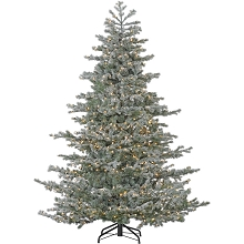 Fraser Hill Farm 7.5 Ft. Oregon Fir Artificial Christmas Tree with Multi-Color LED String Lighting - FFOF075-6SN