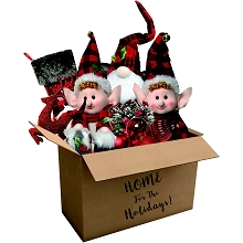 Fraser Hill Farm 164-piece Home for the Holidays Woodland Plaid Ornament and Decor Set, FFORN0164-PL
