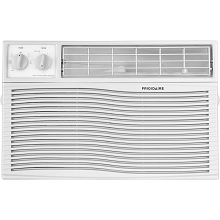 Frigidaire 6,000 BTU 115V Window-Mounted Mini-Compact Air Conditioner with Mechanical Controls in White - FFRA0611U1
