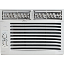 Frigidaire 12,000 BTU 115V Window-Mounted Compact Air Conditioner with Mechanical Controls, White - FFRA1211R1
