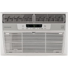 Frigidaire 8,000 BTU 115V Window-Mounted Mini-Compact Air Conditioner with Temperature-Sensing Remote Control, White - FFRE0833S1