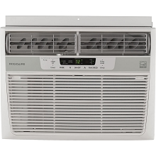 Frigidaire 10,000 BTU 115V Window-Mounted Compact Air Conditioner with Temperature Sensing Remote Control, White - FFRE1033S1