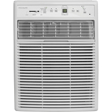 Frigidaire 8,000 BTU 115V Slider/Casement Room Air Conditioner with Full-Function Remote Control, White, FFRS0822S1