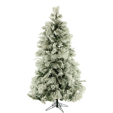 6.5 Ft. Flocked Snowy Pine Christmas Tree - FFSN065-0SN