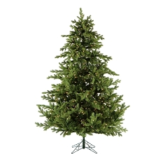 10 Ft. Southern Peace Pine Christmas Tree with Clear LED Lighting - FFSP010-5GR