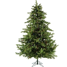 10 Ft. Southern Peace Pine Christmas Tree with Multi-Color LED String Lighting - FFSP010-6GR