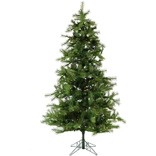 12 Ft. Southern Peace Pine Christmas Tree with Multi-Color LED String Lighting - FFSP012-6GR