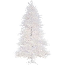 Fraser Hill Farm 7.5 Ft. Snowy Alpine Artificial Christmas Tree - FFST075-0SN