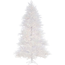 Fraser Hill Farm 7.5 Ft. Snowy Alpine Artificial Christmas Tree with Smart String Lighting - FFST075-3SN