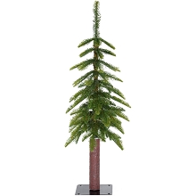 Fraser Hill Farm 3.0-Ft Woodland Pine Green Natural Wonderland Look Christmas Tree with Metal Base, FFWP036-0GR