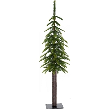 Fraser Hill Farm 4.0-Ft Woodland Pine Green Natural Wonderland Look Christmas Tree with Metal Base, FFWP048-0GR