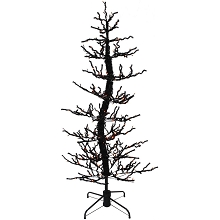 Haunted Hill Farm 5-Ft. Animated Halloween Twisted Tree with Moving Branches and 140 Orange LED Lights, FHWTR060-ORN
