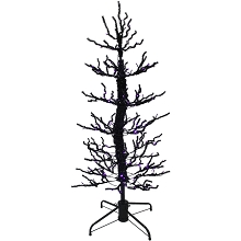 Haunted Hill Farm 5-Ft. Animated Halloween Twisted Tree with Moving Branches and 140 Purple LED Lights, FHWTR060-PUR