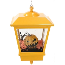 Haunted Hill Farm 18-In. Hanging Jack-O-Lantern Halloween Lantern with Animation and Spooky Music, Orange, FSHLJK018A-OR1