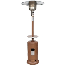 Hanover 7-Ft. 41,000 BTU Steel Umbrella Propane Patio Heater in Autumn Bronze - HAN005AB