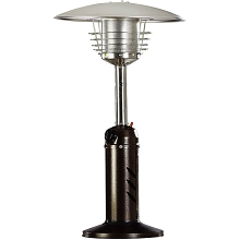 Hanover Mini Umbrella Tabletop Propane Patio Heater in Hammered Bronze - HAN0204HB
