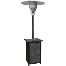 7 Ft. Square Wicker Propane Patio Heater - HAN021BRWCK