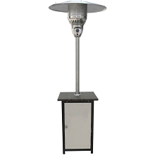 Hanover 7 Ft. 41,000 BTU Square Steel Patio Heater with Stainless Steel Finish - HAN022SSWCK