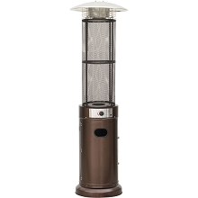 Hanover 6 Ft. 34,000 BTU Cylinder Patio Heater with Glass Flame Display in Bronze - HAN031BRCL