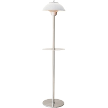 Hanover Electric Carbon Infrared Heat Lamp with Built-In Table Stand, Silver, HAN1012IC-SLV