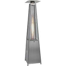 7 Ft. Pyramid Propane Patio Heater in Stainless Steel - HAN102SS