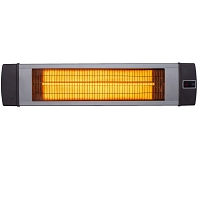 Hanover 34.6-In. Wide Electric Carbon Infrared Heat Lamp with Remote Control, Silver, HAN1041IC-SLV