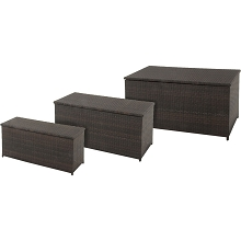 Hanover Set of 3 Woven Deck Boxes - HANDECKBOX-3