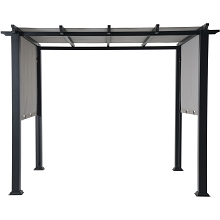 Hanover Hanover 8 x 10 Ft. Metal Pergola with an Adjustable Gray Canopy - HAN-PERGOLA