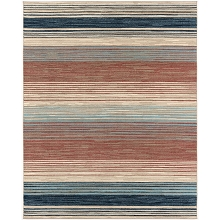 Hanover 4 Ft. x 6 Ft. Indoor/Outdoor Backless Rug with 5000 Hours of UV Protection - Multi-Color Stripe, HANRG4X6STP-MLT