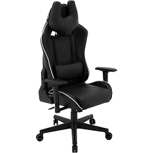 Hanover Commando Ergonomic Gaming Chair in Black and White with Adjustable Gas Lift Seating and Lumbar Support, HGC0106