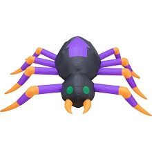 Haunted Hill Farm 8-ft. Inflatable Spider with Lights, HHFINSPIDER08-1L
