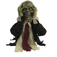 Haunted Hill Farm 22 In. Pop-Up Animatronic Ghoul, Indoor/Outdoor Halloween Decoration, Flashing Red Eyes, Battery-Operated, HHFJZOMB-1LSA