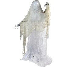 Haunted Hill Farm Life Size Animatronic Ghoul, Indoor/Outdoor Halloween Decoration, Multi-Colored Body, Poseable, Battery-Operated, HHGHST-1HLS