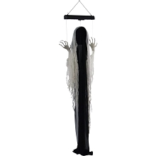 Haunted Hill Farm 69 In. Animatronic Ghost, Indoor/Outdoor Halloween Decoration, Blue Flashing Body, Poseable, Battery-Operated, HHGHST-3HLA