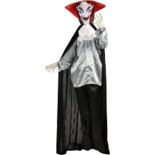 Haunted Hill Farm Life-Size Animatronic Vampire, Indoor/Outdoor Halloween Decoration, Flashing Eyes, Poseable, Battery-Operated, HHVAMP-1FLS