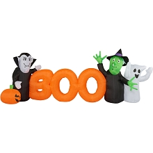 Haunted Hill Farm 10-Ft. Inflatable Boo Sign with Lights, HIBOOSGN101-L
