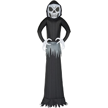 Haunted Hill Farm 12-Ft. Inflatable Ghost with Lights, HIGHOST122-L