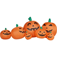 Haunted Hill Farm 10-Ft. Inflatable Pumpkin Family with Lights, HIPMPKNFM101-L