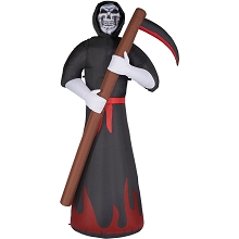 Haunted Hill Farm 10-Ft. Inflatable Grim Reaper with Color Changing Lights and Animation, HIREPR101-L