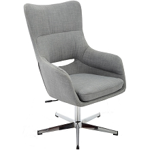 Hanover Carlton Wingback Stationary Office Chair in Gray with Adjustable Gas Lift Seating and Chrome base, HOC0007