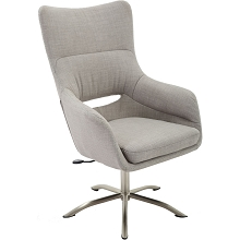 Hanover Carlton Wingback Stationary Office Chair in Taupe with Adjustable Gas Lift Seating and Chrome base, HOC0009